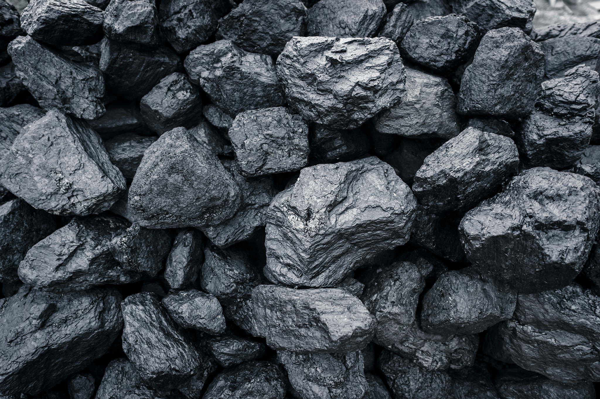 Mound of coal